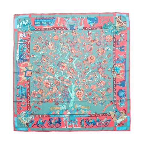 Hermes Vintage Silk Fantaisies Indiennes Scarf