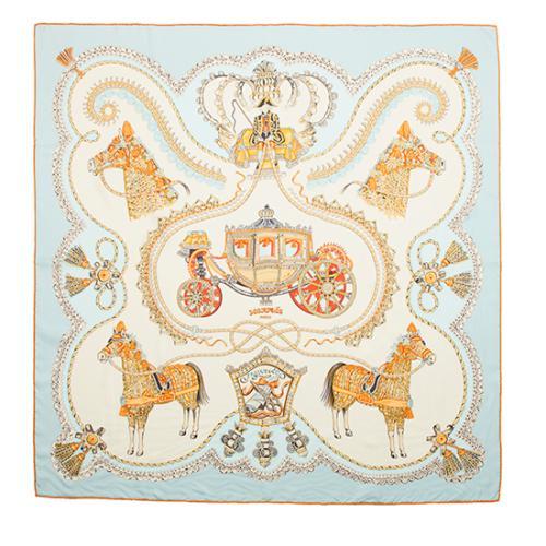 Hermes Vintage Silk Paperoles Scarf