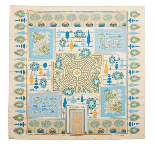 Hermes Vintage Silk Paridaiza Scarf - FINAL SALE