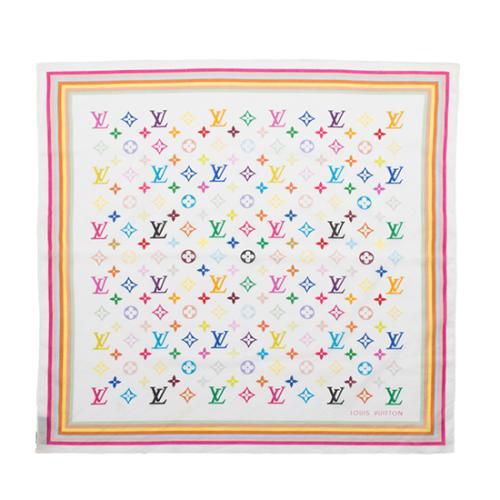 Louis Vuitton Monogram Multicolore Cotton Bandana Scarf