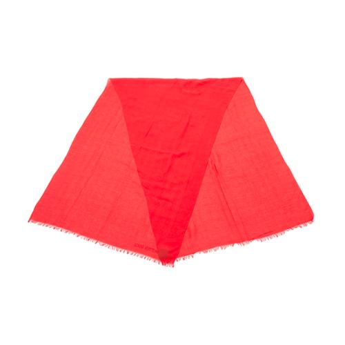 Louis Vuitton Cotton Silk Damier Stole Shawl