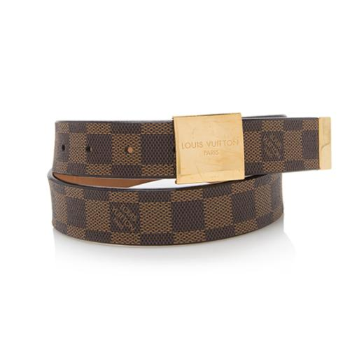 f740761749c8 Louis-Vuitton-Damier-Ebene-Belt--Size-32-80 91794 front large 0.jpg