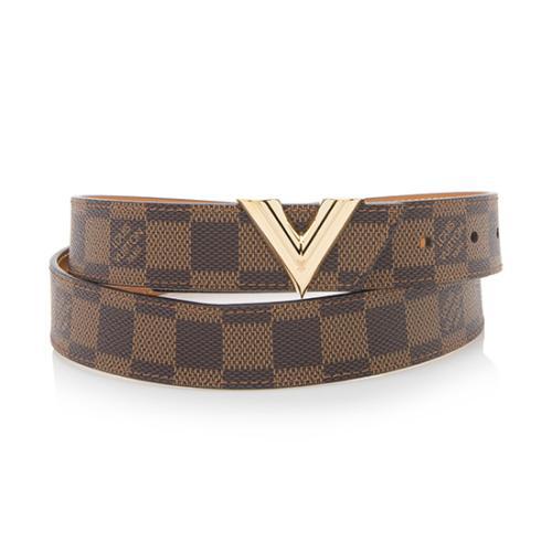 Ungdommelig Louis Vuitton Damier Ebene Essential V Belt - Size 36 / 90 GS-41