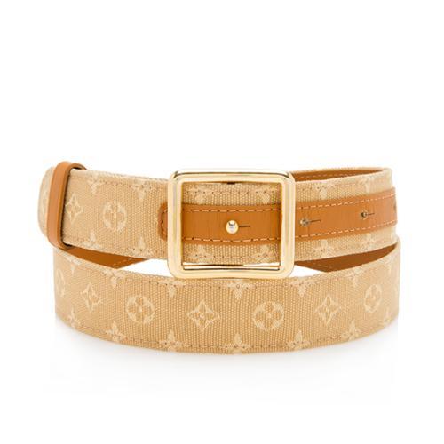 Louis Vuitton Mini Lin Belt - Size 34 / 85