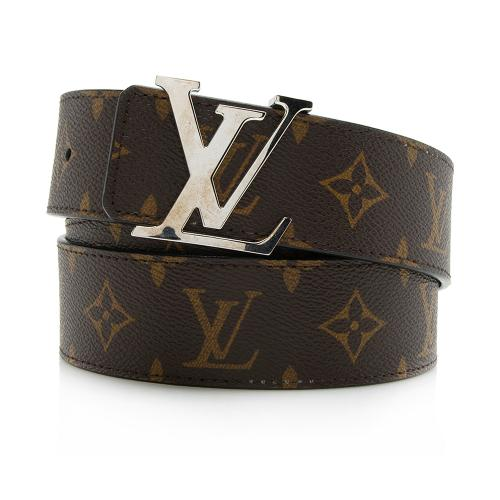 Louis Vuitton Monogram Canvas Reversible Initiales Belt - Size 44 / 110