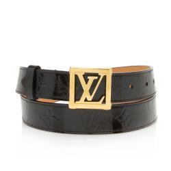 Louis Vuitton Monogram Vernis Frame Belt - Size 36 / 90