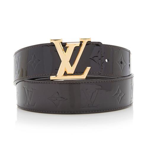 Kjempebra Louis Vuitton Monogram Vernis LV Facettes Belt - Size 38 / 95 IH-39