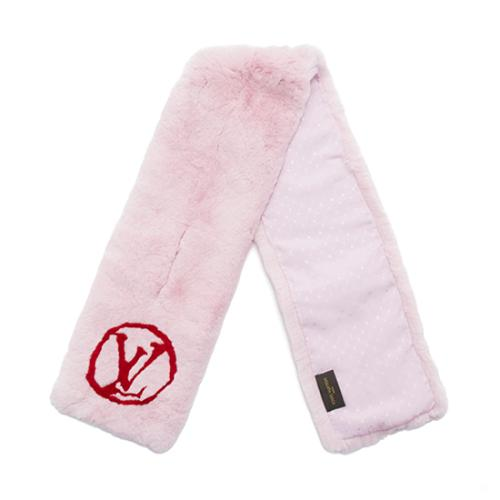 Louis Vuitton Rex Rabbit Fur Stamp Muffler Scarf