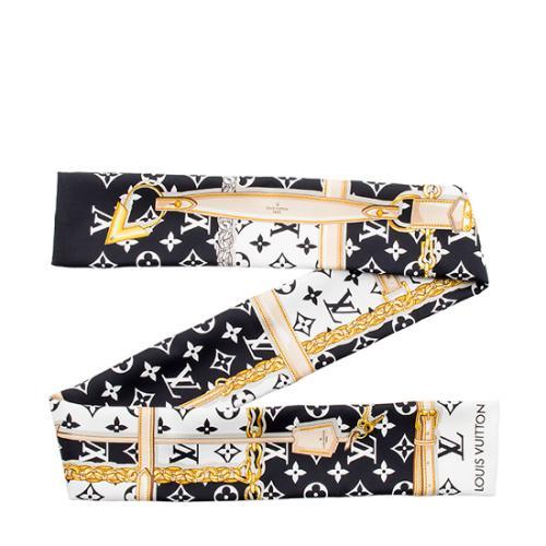 Louis Vuitton Silk Confidential Bandeau Scarf