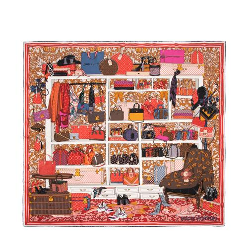 Louis Vuitton Silk Handbags Square Scarf