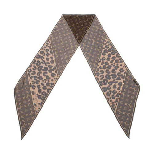 Louis Vuitton Silk Leopard Monogram Scarf
