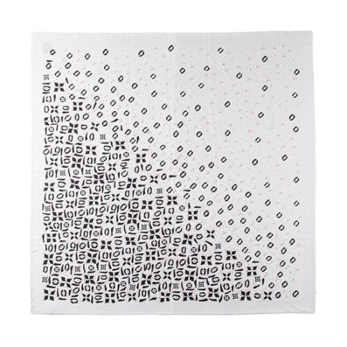 Louis Vuitton Silk Wool Monogram Graphic Shawl