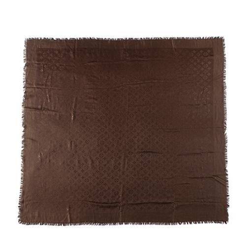 Louis Vuitton Silk Wool Monogram Shawl