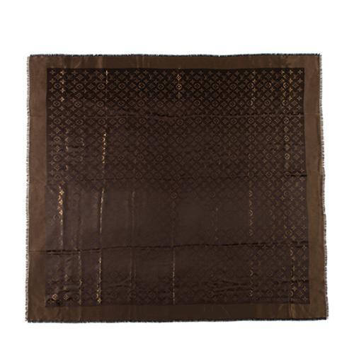 Louis Vuitton Silk Wool Monogram Shine Shawl