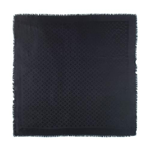 Louis Vuitton Silk Wool Monogram Shine Shawl