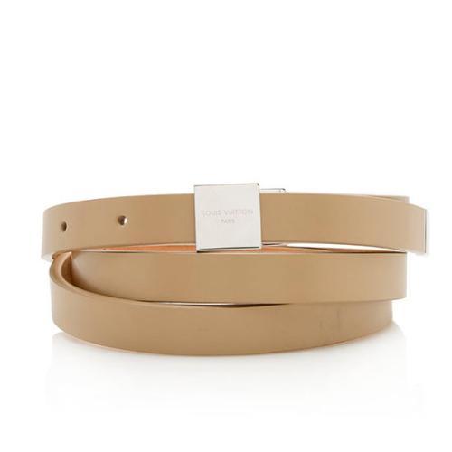 Louis Vuitton Vintage Leather Ceinture Carre Thin Logo Belt - Size 38 / 95
