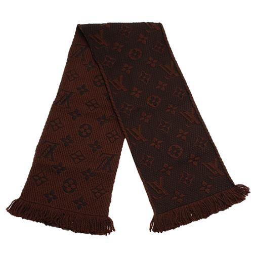 Louis Vuitton Wool Silk Logomania Scarf