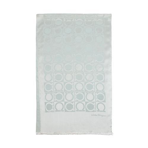 Salvatore Ferragamo Silk Wool Gancio Print Scarf