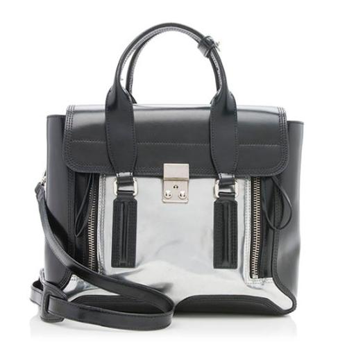 3.1 Phillip Lim Leather Mixed Media Pashli Medium Satchel