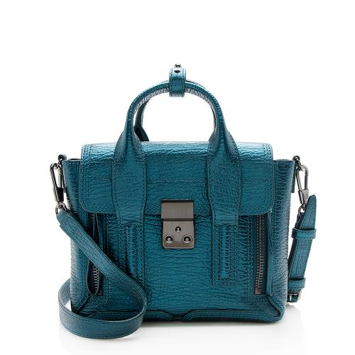 3.1 Phillip Lim Metallic Leather Pashli Mini Satchel