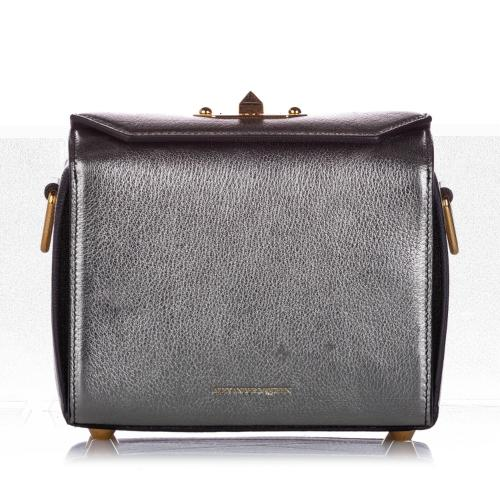 Alexander McQueen Metallic Leather Box 19 Crossbody Bag
