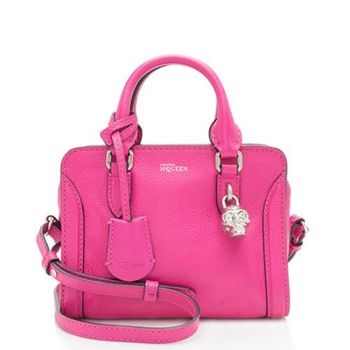 Alexander McQueen Calfskin Mini Padlock Shoulder Bag