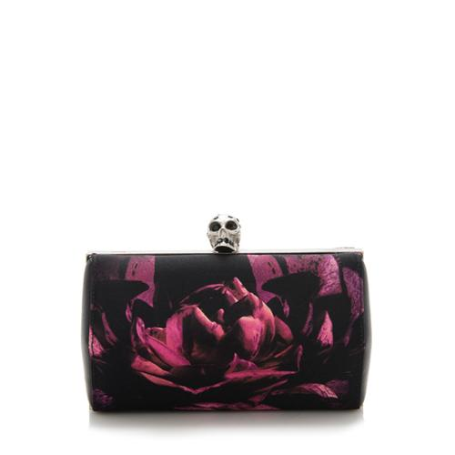 Alexander McQueen Floral Silk Skull Clutch - FINAL SALE