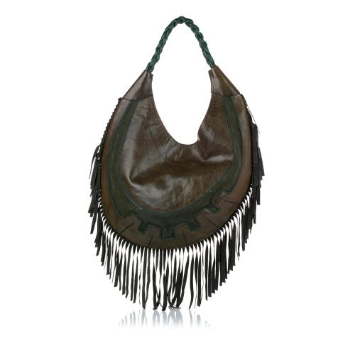 Alexander McQueen Fringe Leather Hobo Bag