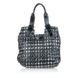 Alexander McQueen Hounds tooth Leather Tote