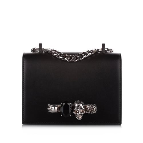 Alexander McQueen Jewelled Leather Crossbody Bag