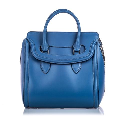 Alexander McQueen Leather Large Heroine Handbag