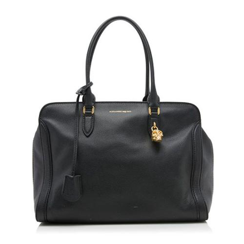 Alexander McQueen Leather Skull Padlock Small Tote