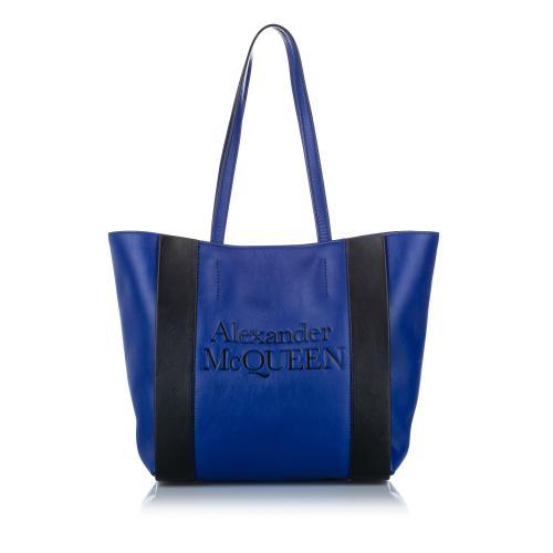 Alexander McQueen Logo Leather Tote Bag