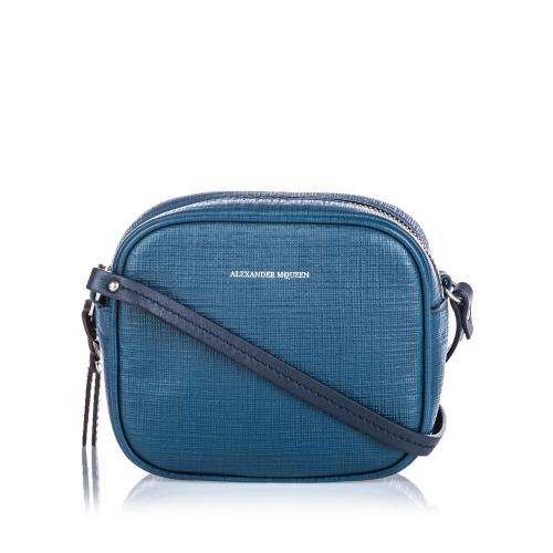 Alexander McQueen Saffiano Leather Mini Camera Bag
