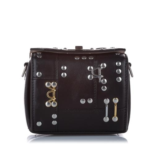 Alexander McQueen Leather Studded Box Crossbody Bag