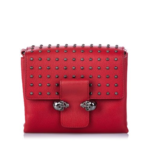 Alexander McQueen Leather Twin Skull Crossbody Bag