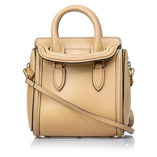 Alexander Mcqueen Leather Heroine Mini Satchel