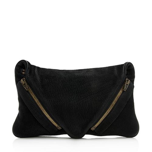 Alexander Wang Distressed Leather Jena Clutch