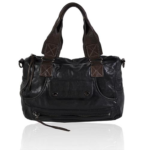 Andrew Marc Biker Sonic Medium Satchel Handbag