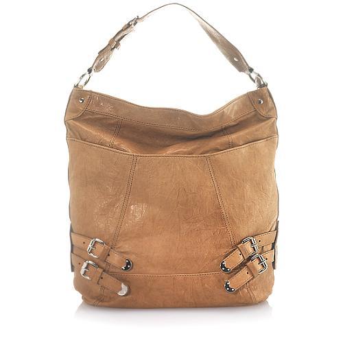 Andrew Marc Buckle Heather Large Hobo Handbag