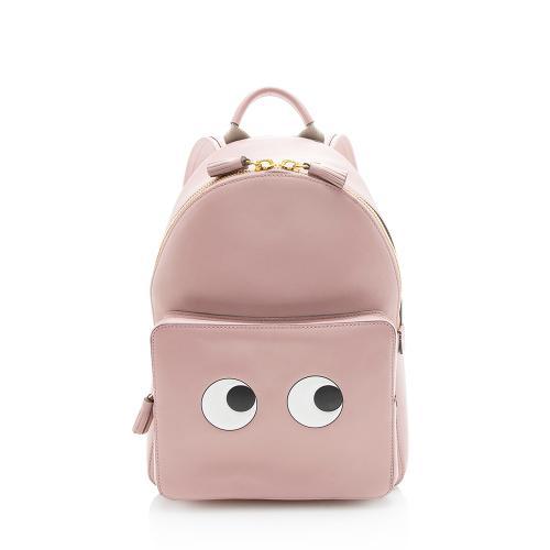 Anya Hindmarch Leather Eyes Mini Backpack
