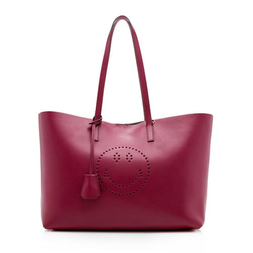 Anya Hindmarch Leather Smiley Tote