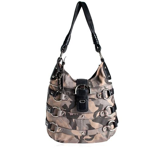 B. Makowsky Camouflage Printed Leather N/S Tote