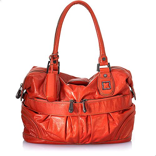 BCBGMAXAZRIA Femme Fatale Leather Satchel Handbag