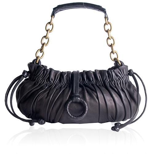 BCBGMAXAZRIA Leather Hobo Handbag