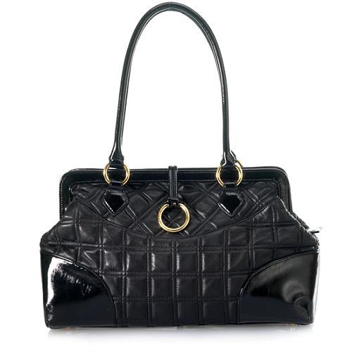 BCBGMAXAZRIA Quilted Frame Satchel Handbag