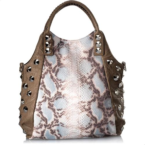 BE & D Garbo Faux Python Tote