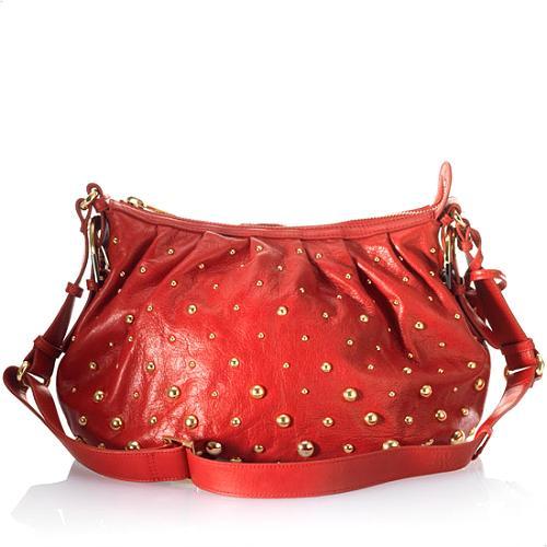Badgley Mischka Brigitte Stud Hobo Handbag