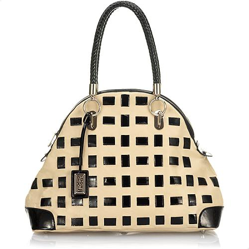Badgley Mischka Silvana Patent Domed Satchel Handbag