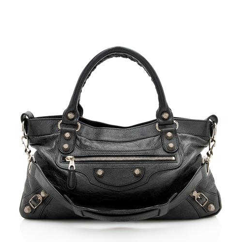 Balenciaga Agneau Giant 12 City First Satchel